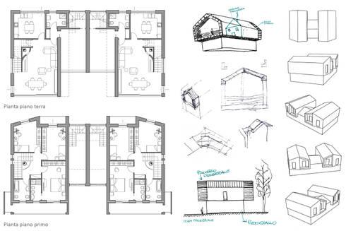 Nuova villa bifamiliare di studio di architettura alberto - Pianta casa bifamiliare ...