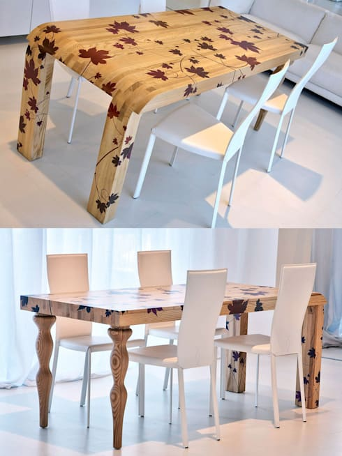 Tavolo: Sala da pranzo in stile in stile Mediterraneo di cad design