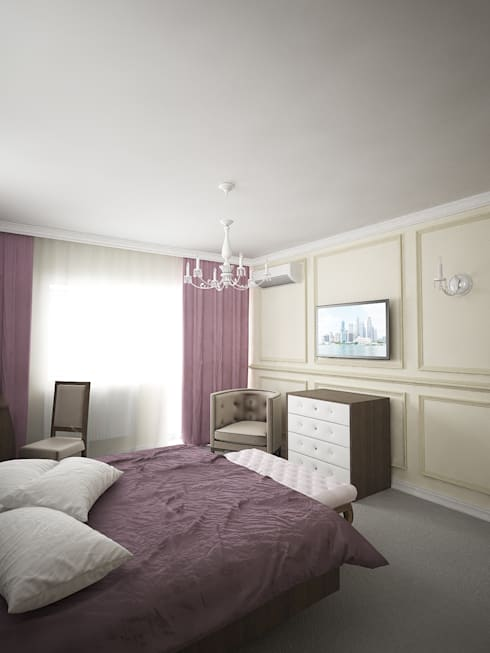 classic Bedroom by Дизайн студия Александра Скирды ВЕРСАЛЬПРОЕКТ