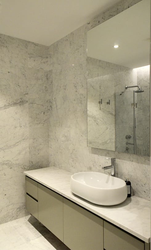 monoblok design & interiors – Tarabya B. Yali Project _ Bathroom 2: modern tarz Banyo