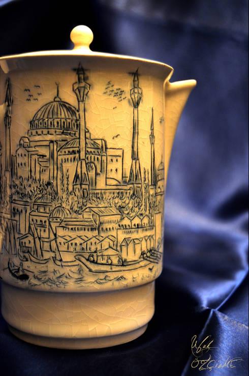 Ufuk Özçizme Seramik ve Sanat Atölyesi – Sufi İstanbul - Crackle:  tarz Mutfak