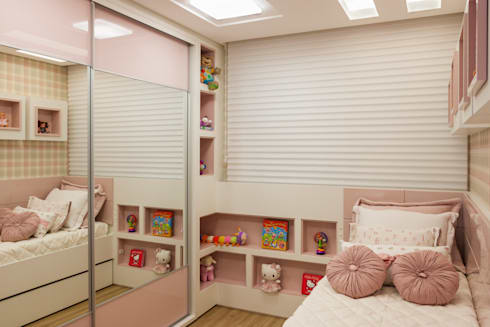 Ap PCL: Quarto infantil  por Calli Arquitetura