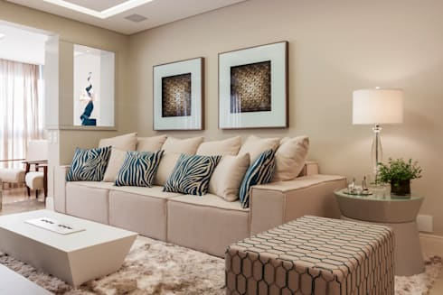 Ap PCL: Salas de estar modernas por Calli Arquitetura