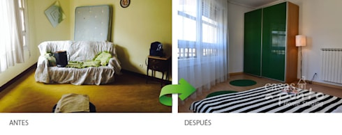 Habitación principal :  de estilo  de Casas a Punto home staging