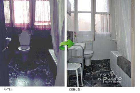 Antes y después del baño :  de estilo  de Casas a Punto home staging