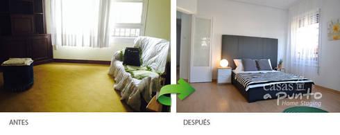 El cabecero  de la cama como pieza principal :  de estilo  de Casas a Punto home staging