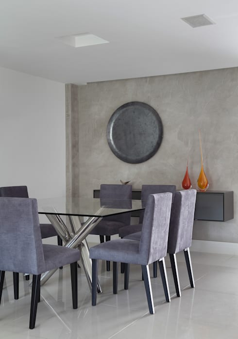 Casa Barra ED: Salas de jantar modernas por Amanda Miranda Arquitetura