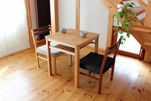 cafe table: trusty wood worksが手掛けたダイニングルームです。