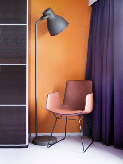 caramel kleurige muur slaapkamer door ijzersterk interieurontwerp