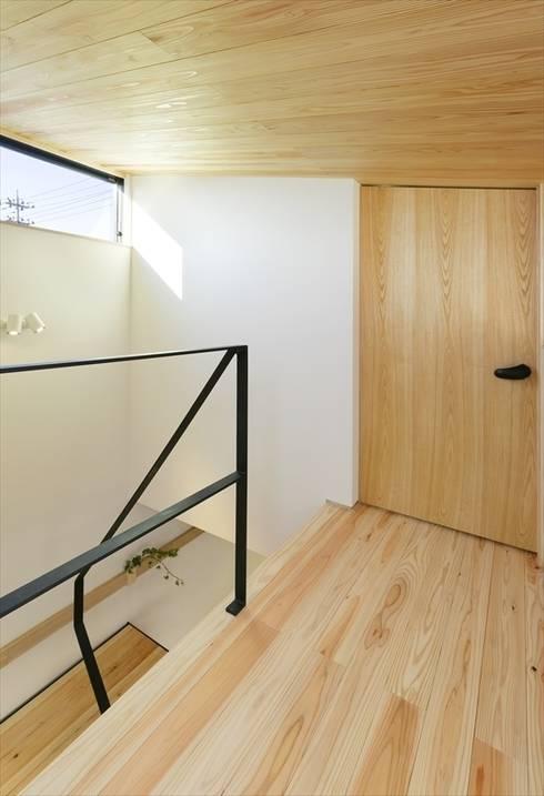 ระเบียงและโถงทางเดิน by 長谷川拓也建築デザイン