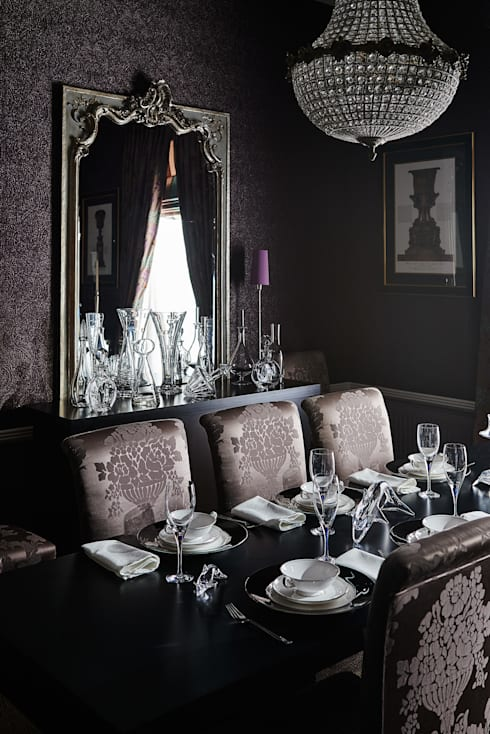 Interiors:  Dining room by Adam Carter Photo
