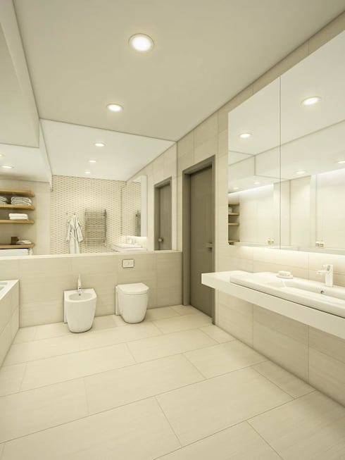 Bathroom by EVGENY BELYAEV DESIGN
