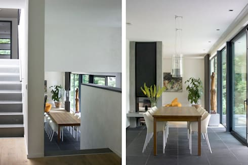 Villa Vught: moderne Eetkamer door Doreth Eijkens   Interieur Architectuur
