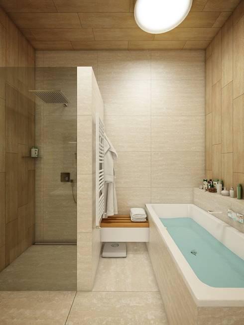 Baños de estilo  por EVGENY BELYAEV DESIGN