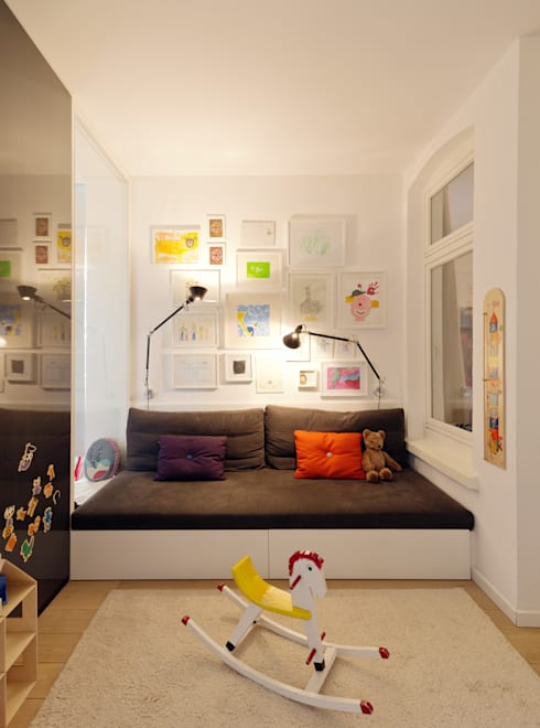 Wohnhaus A in Oldenburg: moderne Kinderzimmer von ANGELIS & PARTNER Architekten mbB
