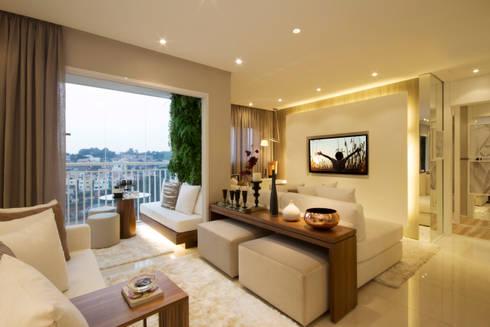 MAC_Otacílio: Salas de estar clássicas por Chris Silveira & Arquitetos Associados