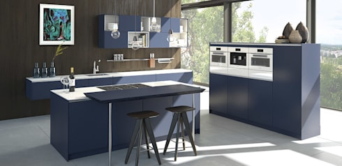 x line klassisch grifflos por pronorm einbauk chen gmbh homify. Black Bedroom Furniture Sets. Home Design Ideas