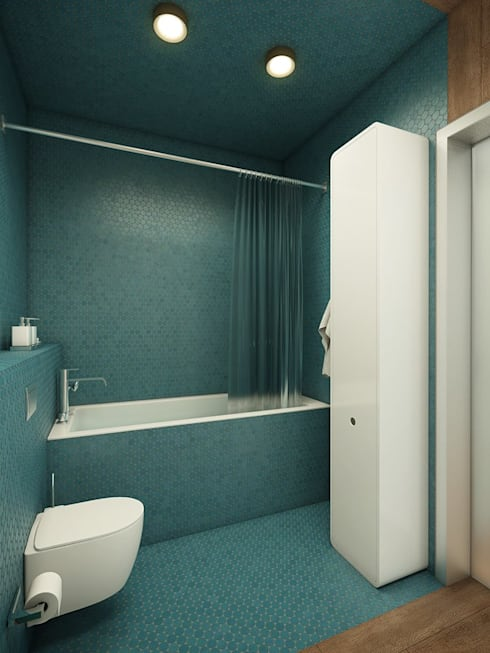 Privat Apartments in Novosibirsk: eclectic Bathroom by EVGENY BELYAEV DESIGN