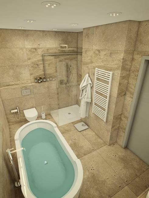 Privat Apartments in Novosibirsk:  Bathroom by EVGENY BELYAEV DESIGN