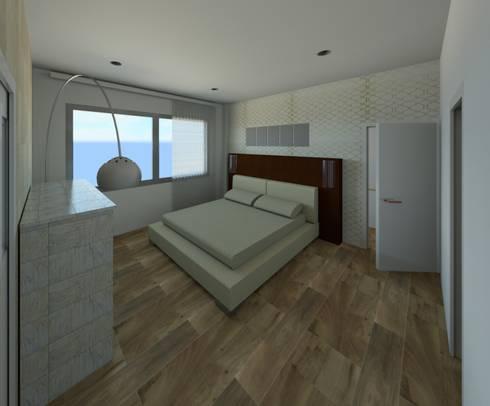 PROYECTO VIVIENDA UNIFAMILIAR: Dormitorios de estilo minimalista de MIMESIS INTERIORISMO SL