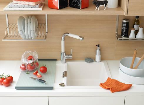 diewohnblogger: Tapeten funktionieren auch in der Küche | homify | {Küche 24 3}