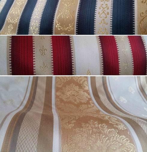 Textile d'ameublement style Empire: Fenêtres & Portes de style  par Rideau-voile