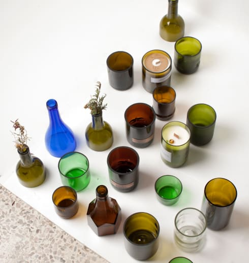 UPCYCLING BOTTLE GLASS: 0dot0의  실내 조경