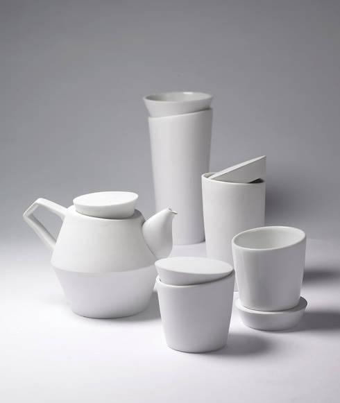 기하학적 형태를 이용한 디자인식기를 만드는 tableware brand : ssomik: ssomik의
