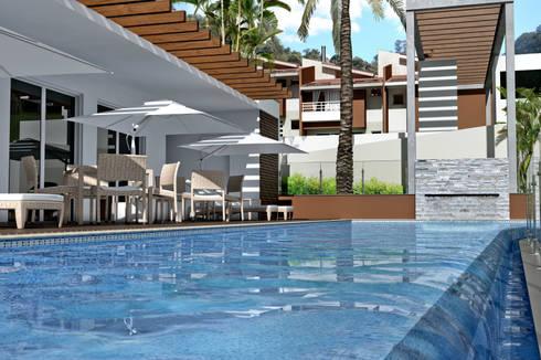 Residencial Ecovila Sambaqui: Casas modernas por Mantovani e Rita Arquitetura