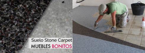 Suelo Stone Masters detalle: Paredes y suelos de estilo moderno de Muebles Bonitos SL