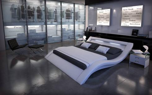 cama de matrimonio de diseo calpe en color blanco