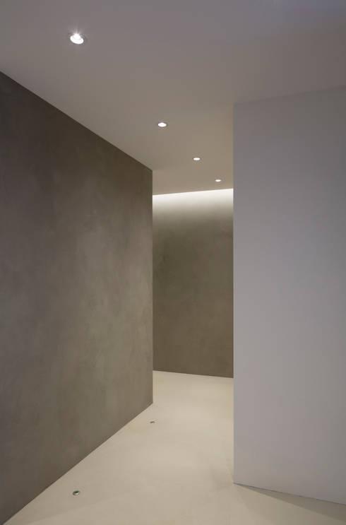 Casa Maggi - Lugano - Ticino (CH): Pareti in stile  di atelierB-architetti