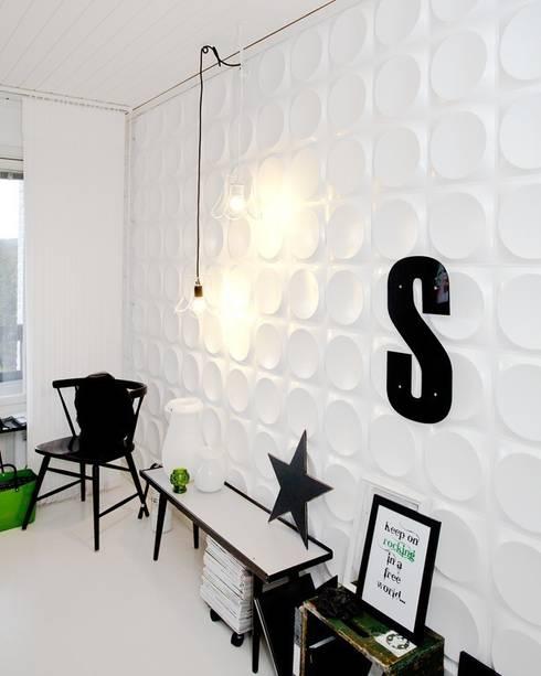 Panel de pared 3D Moonscape: Paredes y suelos de estilo moderno de Paneles de Pared