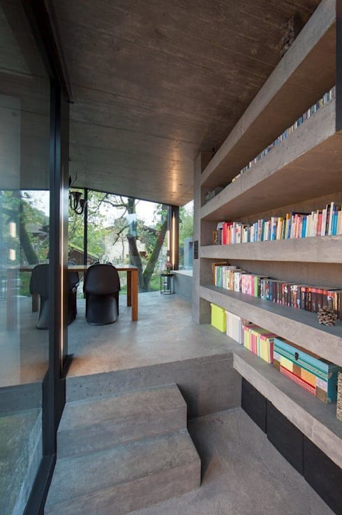 Wohnhaus Dielsdorf:  Flur & Diele von L3P Architekten ETH FH SIA AG