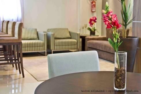 Projeto arquitetonico de área interna comum do Green Village Residence: Salas de jantar ecléticas por ArchDesign STUDIO
