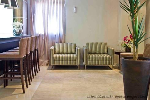 Projeto arquitetonico de área interna comum do Green Village Residence: Salas de estar ecléticas por ArchDesign STUDIO