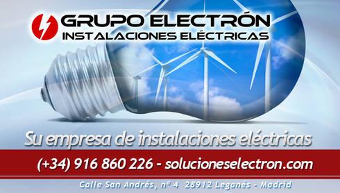 Grupo Electrón - Instalaciones eléctricas: Casas de estilo moderno de Grupo electrón - Instalaciones eléctricas