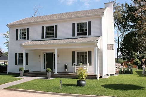 JAMES NR front : klassische Häuser von THE WHITE HOUSE american dream homes gmbh