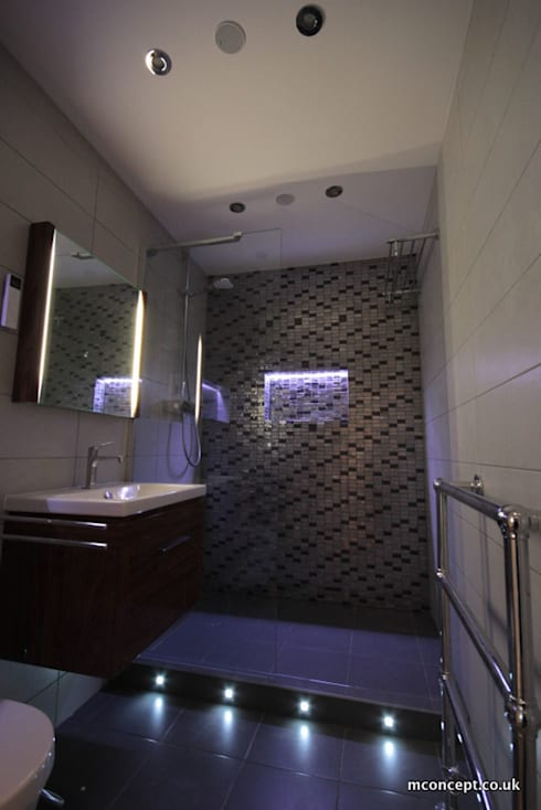 Complete modernisation of Central London Flat :  Bathroom by Mconcept