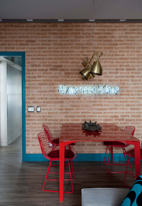 Loft 402: Salas de jantar  por Juliana Pippi Arquitetura & Design