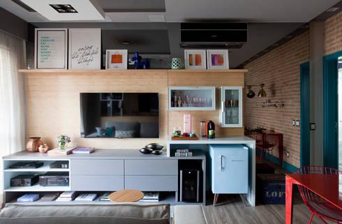 Loft 402: Salas de estar modernas por Juliana Pippi Arquitetura & Design