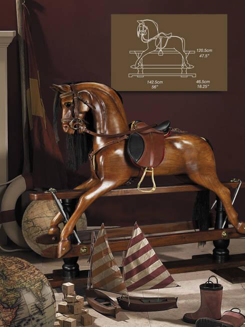 Viktorianisch Schaukelpferd : klassische Kinderzimmer von Sven Markus von Hacht - Design de Noblesse