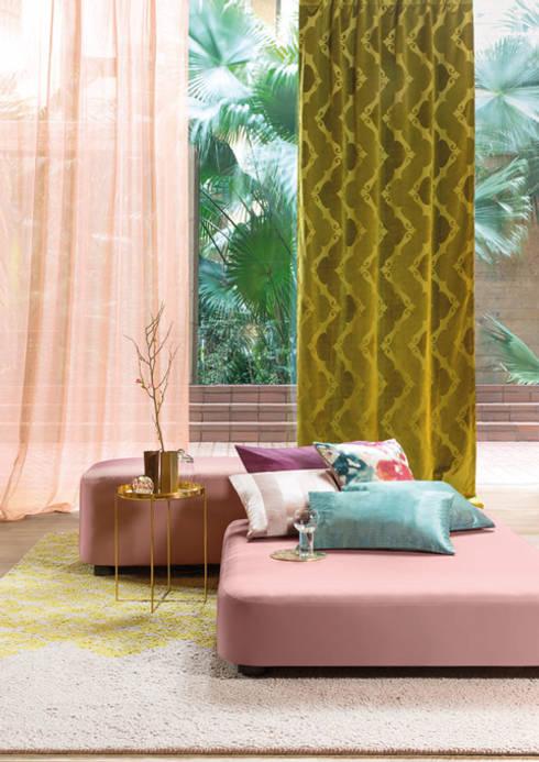FR-One Stoffe Vantage und Webledon:  Fenster & Tür von Indes Fuggerhaus Textil GmbH
