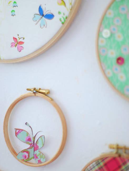 stickrahmen mit papierdeko:  Wohnzimmer von wunderschoen-gemacht