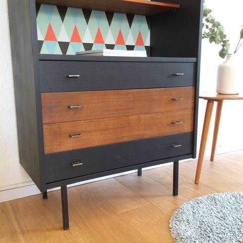 p roline le meuble de rangement biblioth que commode des ann es 60 par chouette fabrique homify. Black Bedroom Furniture Sets. Home Design Ideas
