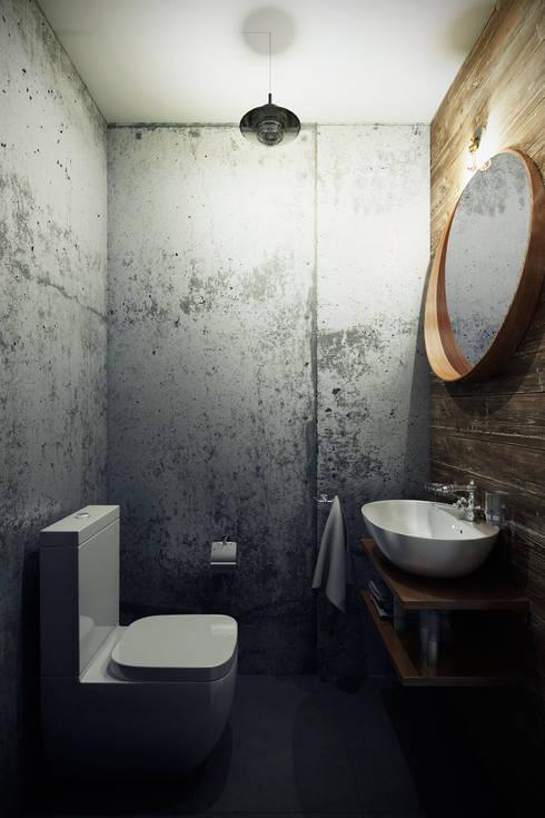 Каменный лофт: Ванные комнаты в . Автор – CO:interior