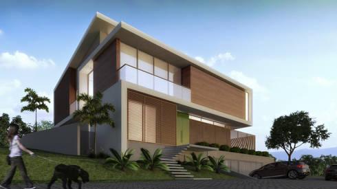 Casa LL: Casas modernas por Mantovani e Rita Arquitetura