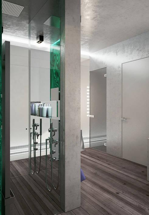 Бетон и другие катастрофы: Ванные комнаты в . Автор – FEDOROVICH Interior