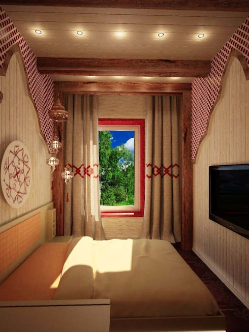 Bedroom by Студия дизайна интерьера 'Золотое сечение'