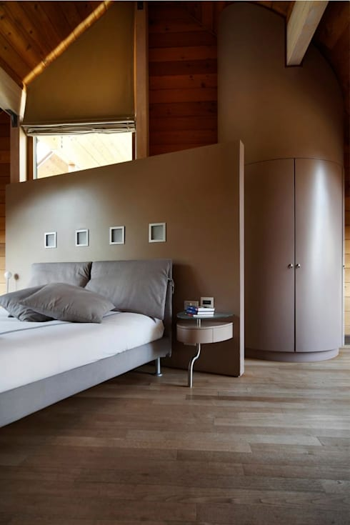Projekty,  Sypialnia zaprojektowane przez alberico & giachetti architetti associati
